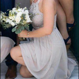 Bridesmaid Dress in Biscotti Davids Bridal